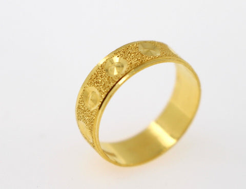 "22k 22ct Solid Gold ELEGANT Ladies BAND Ring SIZE 7.0 ""NON RESIZABLE"" r1517"