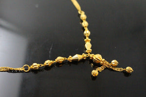 22k 22ct Chain Yellow Solid Gold Ball Necklace Chain c899