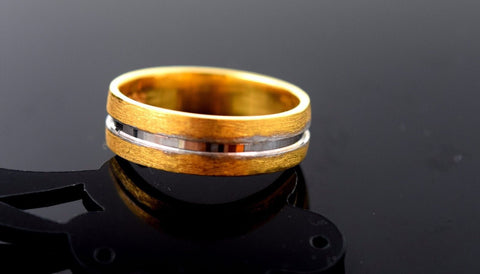"22k Solid Gold ELEGANT MEN Ring Band Exquisite Design ""RESIZABLE"" R525"