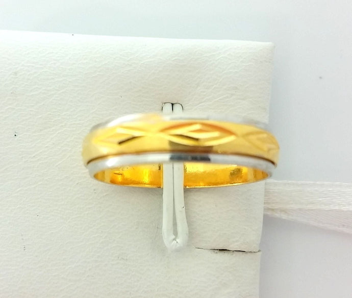 22k Solid Gold Ring Size 9 custom size available with unique box mf