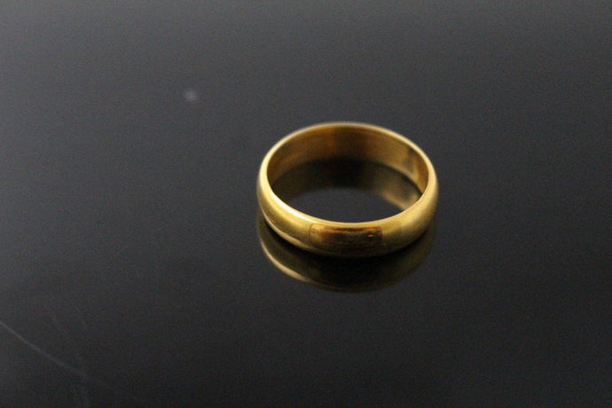 22k 22ct Solid Gold ELEGANT PLAIN Ring SIZE 8.0