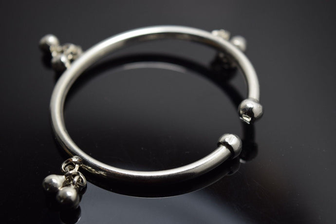 1PC HANDMADE Baby Solid Silver Bracelet 925 sb13 Sterling Children Bangle Cuff