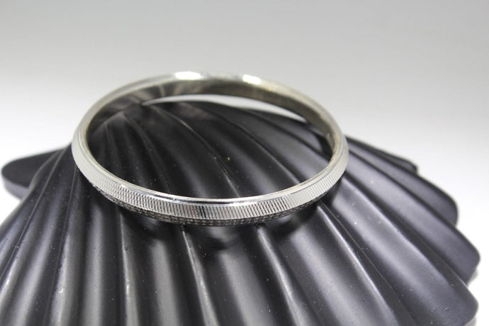 1PC HANDMADE men b114 Solid Sterling Silver 925 size 2.5 inch kara Bangle