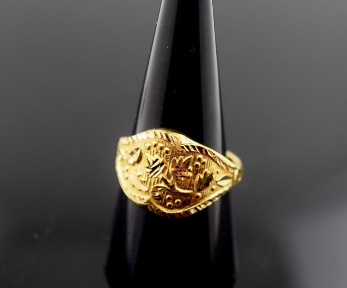 2k 22ct Solid Gold ELEGANT STONE Ring with FREE BOX