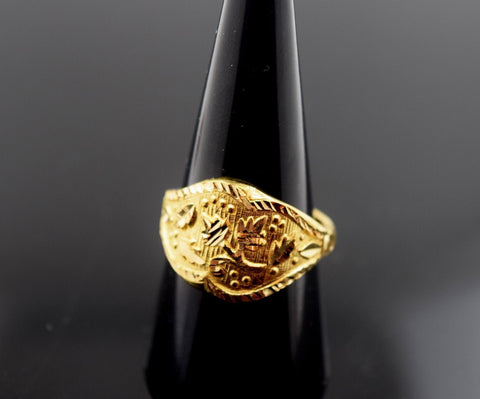 "2k 22ct Solid Gold ELEGANT STONE Ring with FREE BOX ""RESIZABLE"" R432 size 8"