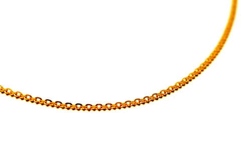 22k 22CT Yellow Solid Gold Elegant Designer simple CHAIN 16in C942