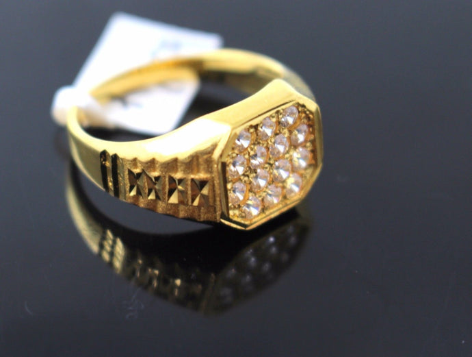22k 22ct Solid Gold ELEGANT Men Ring SIZE 9
