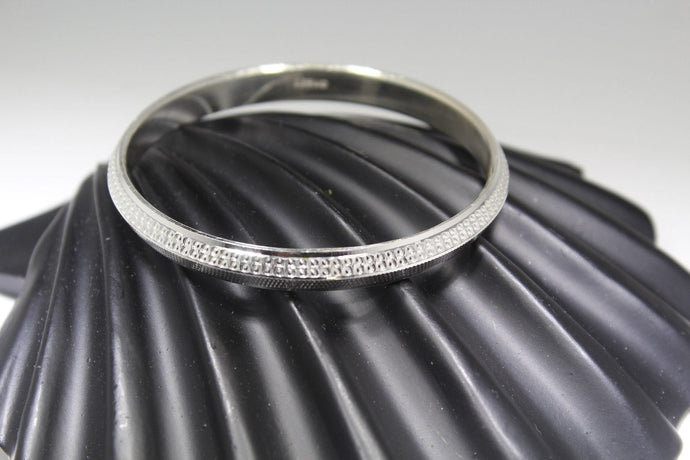 1PC HANDMADE women b110 Solid Sterling Silver 925 size 2.5 inch kara Bangle