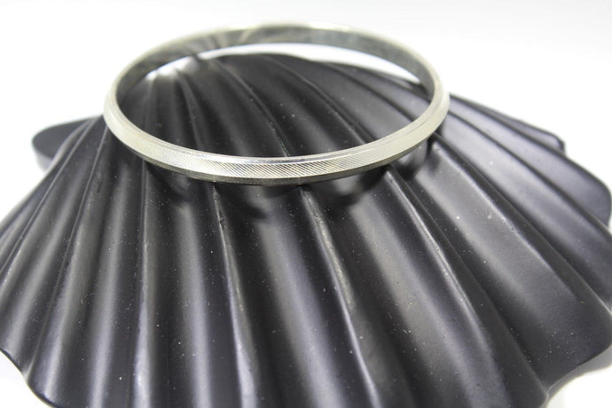 1PC HANDMADE Men b6 Solid Sterling Silver 925 size 2.50 inch kara Bangle Cuff