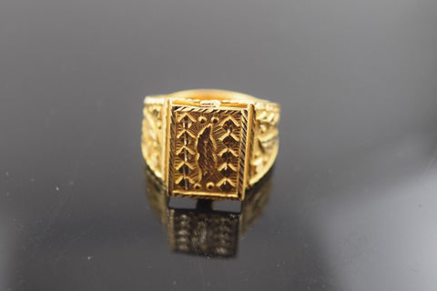 "22k Solid Gold ELEGANT Men Ring Modern Design ""RESIZABLE"" R427 size 10"