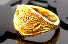 "22k Jewelry Solid Gold ELEGANT MEN Ring Classic Design ""RESIZABLE"" R598"