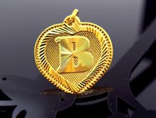 "22k 22ct Solid Gold HEART ""B"" letter with BOX p471 