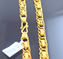 22k 22ct Solid Gold DESIGNER DOUBLE STYLISH CURB MEN THICK CHAIN LENGTH 22 c515 - Royal Dubai Jewellers