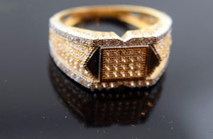 "22k 22ct Solid Gold STONES MENS Ring with FREE BOX ""RESIZABLE"" R0265 