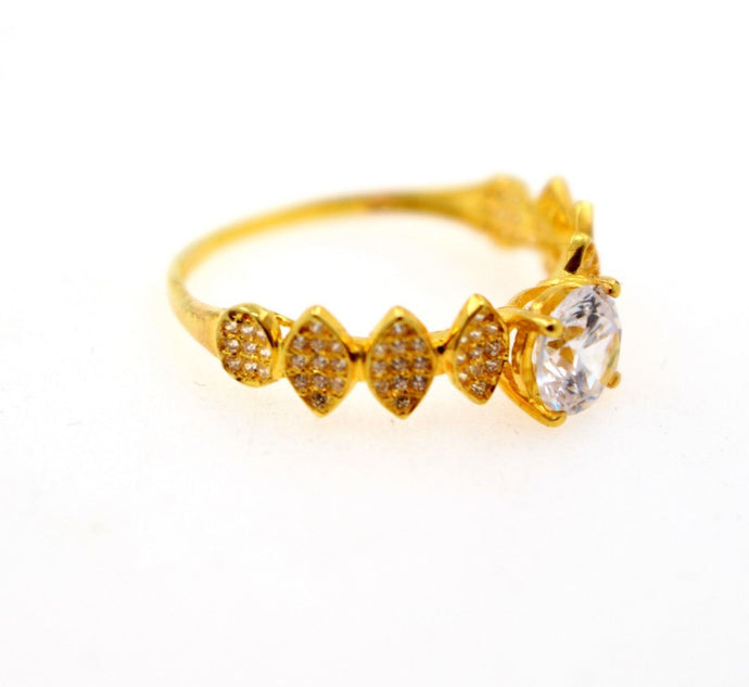 22k 22ct Solid Gold DIAMOND CUT LADIES RING SIZE 7.5' RESIZABLE