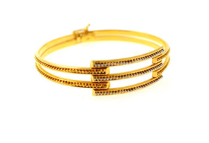 22k 22ct Solid Gold Elegant Ladies Single Designer Bangle Lock Bracelet B868 | Royal Dubai Jewellers