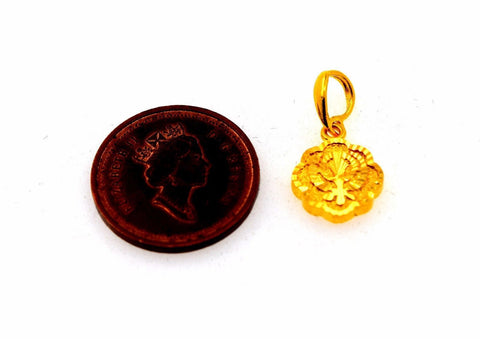 22k Jewelry Solid Gold Sikh Religious pendant charm locket p564