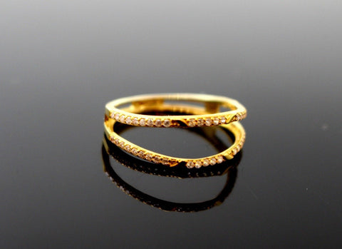 "22k 22ct Solid Gold LADIES RING JACKETS SIZE 7.0"" RESIZABLE"" R1634"