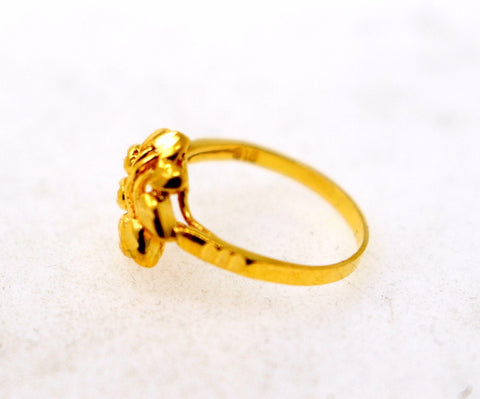 "22k 22ct Solid Gold BEAUTIFUL BABY CHILD Ring BAND ""RESIZABLE"" R1187"