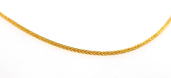 22k 22ct Yellow Solid Gold GORGEOUS DESIGNER BRAIDED CHAIN NECKLACE c919