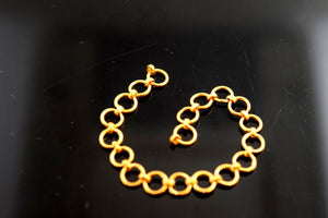 22k Solid Gold 916 CHAIN LINKS LOCK FINDINGS CLASP