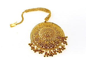 22k 22ct Yellow SOLID Gold Large Floral MANG TIKKA TIKA WOMAN p1286