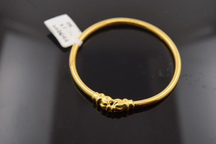 22k 22ct Solid Gold ELEGANT DESIGNER PLAIN BABY CHILDREN BANGLE BRACELET mf | Royal Dubai Jewellers