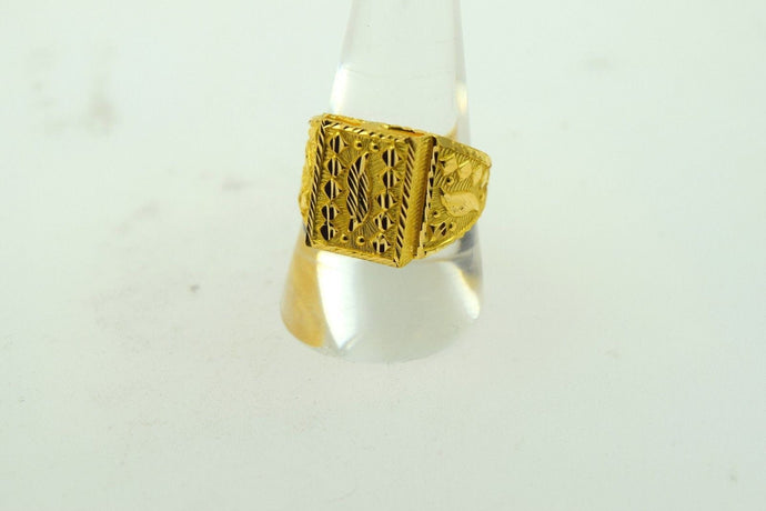 22k Solid Gold ELEGANT Men Ring Modern Design