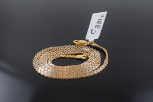 22k Jewelry Yellow Solid Gold Chain Necklace Elegant Modern Rope Design c331 | Royal Dubai Jewellers