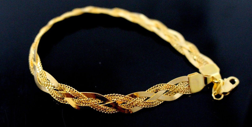 22k GOLD ELEGANT DESIGNER TWISTED LADIES BRACELET B879 | Royal Dubai Jewellers