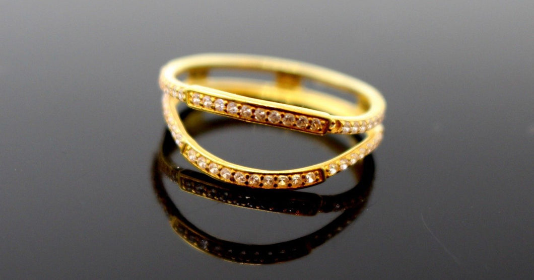22k 22ct Solid Gold LADIES RING JACKETS SIZE 7.0