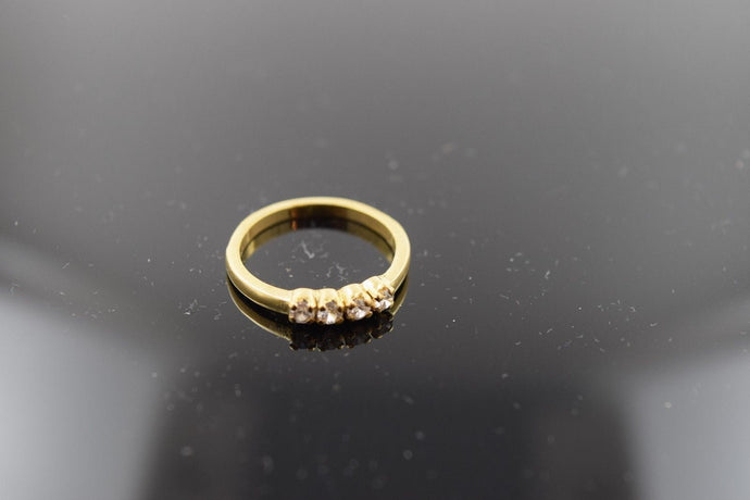 22k Solid Gold ELEGANT Stone Ring BAND