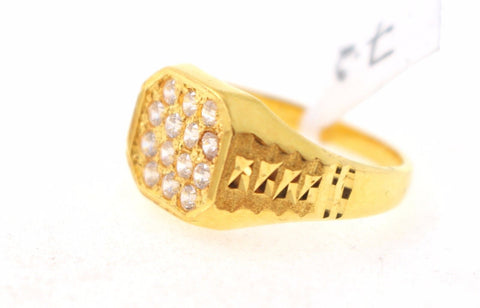 "22k 22ct Solid Gold ELEGANT Men Ring SIZE 9 ""RESIZABLE"" R1059"