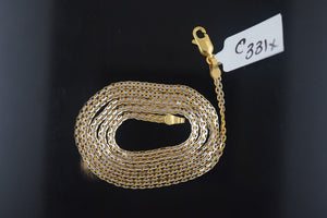 22k Jewelry Yellow Solid Gold Chain Necklace Elegant Modern Rope Design c331