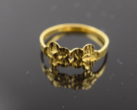 "22k 22ct Solid Gold ELEGANT BABY KIDS Ring ""RESIZABLE"" size 2 r489"