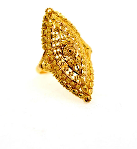 "22k 22ct Solid Gold DIAMOND CUT ANTIQUE LADIES RING SIZE 8 .0' RESIZABLE"" R1635 