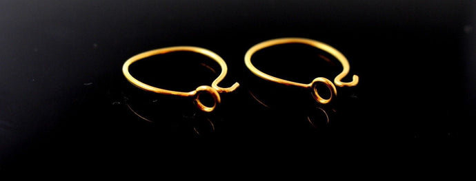 22k 22ct Solid Gold ELEGANT ROUND Hoop EARRINGS size 0.75 inch E5327