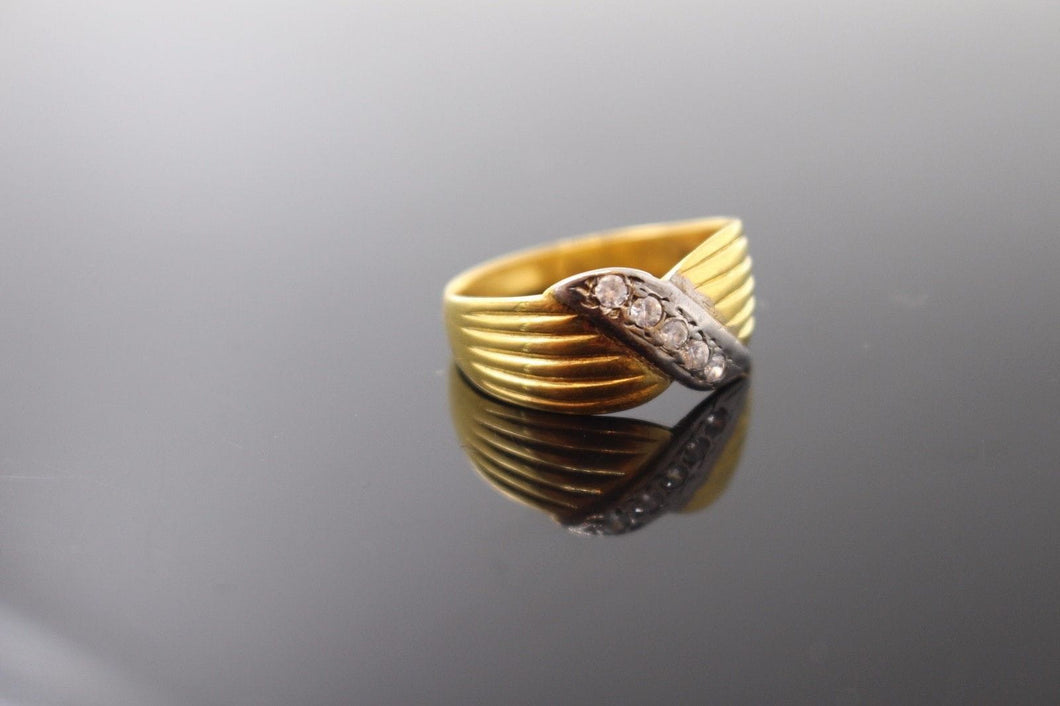 22k 22ct Solid Gold ELEGANT Charm Mens Ring SIZE 9