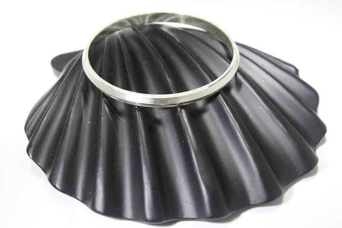 1PC HANDMADE Men b1 Solid Sterling Silver 925 size 2.75 inch kara Bangle Cuff