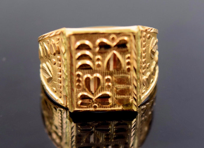 22k 22ct Solid Gold EXQUISITE MEN Ring BAND