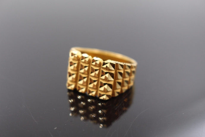 22k 22ct Solid Gold ELEGANT Charm Mens Ring SIZE 9.5