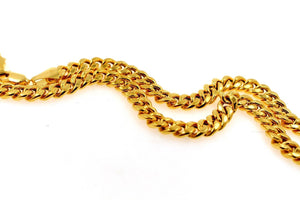 22k 22ct Yellow Solid Gold ELEGANT CURB LINK THICK HEAVY CHAIN NECKLACE c940