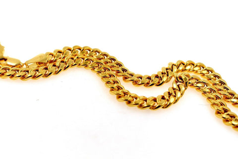 22k 22ct Yellow Solid Gold ELEGANT CURB LINK THICK HEAVY CHAIN NECKLACE c940 | Royal Dubai Jewellers