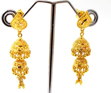 22k 22ct Jewelry Solid Gold ELEGANT LONG JHUMKE DANGLING Earring e5801