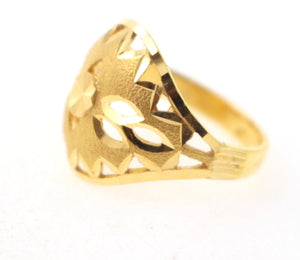 "22k 22ct Solid Gold ELEGANT Ladies Ring SIZE 7 ""RESIZABLE"" R1111"