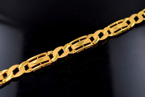 22k Gold Solid Gold VINTAGE ITALIAN MEN FANCY BRACELET LENGTH 8.5 inch B498