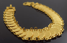 22k 22ct Solid Gold ELEGANT COIN Bracelet length 7.0 Inch with BOX CB95