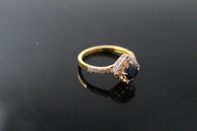 22k 22ct Solid Gold ELEGANT Ladies Onyx Stone Ring SIZE 6 RESIZABLE