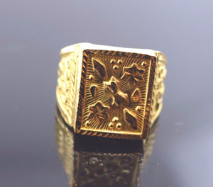 "22k Solid Gold ELEGANT MENS Ring Exquisite Design ""RESIZABLE"" R273"
