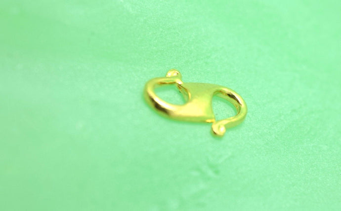 22k 22ct Solid Gold 916 CHAIN S LOCK CLASP FINDINGS Hook Claw Spring yellow S | Royal Dubai Jewellers